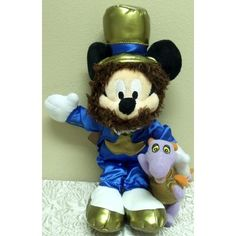 Retired Disney Limited Edition of Only 2000 Ever Produced 10 Plush Mr. Epcot Around the World Mickey Mouse with Figment Bean Bag Doll Toys & Games Mickey Mouse Doll, Doll Toys, Dolls, Disney Merchandise, Disney Toys, Epcot, Bean Bag, Beanies, Parks