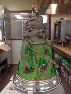 An alpine cake to complete the alpine wedding: fun Vail Mountain wedding cake by @Four Seasons Resort Vail!