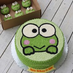 Birthday cake idea for Single Mom kids. Pretty Cakes, Cute Cakes, Fondant Cakes, Cupcake Cakes, Purple Drinks, Frog Cakes, Cute Birthday Cakes, Cake Decorating Videos, Pumpkin Spice Cupcakes