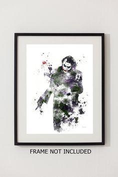 The Joker Batman ART PRINT illustration Supervillain by SubjectArt