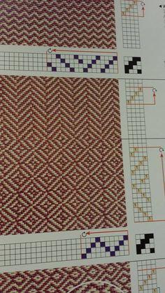 Bildergebnis für weaving drafts for 4 shaft looms Tablet Weaving, Card Weaving, Weaving Art, Tapestry Weaving, Loom Weaving, Weaving Designs, Weaving Projects, Weaving Patterns, Textile Patterns