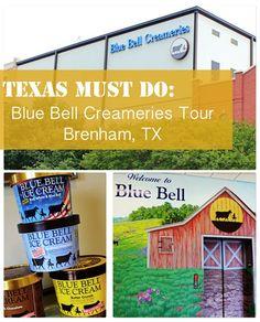Texas Must Do: Blue Bell Creameries Factory Tour #activitiesforkids #travel