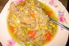 Foto de la receta de caldo de gallina criolla