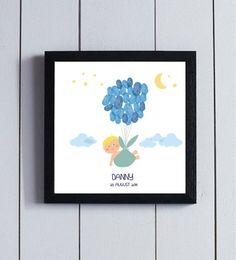 He encontrado este interesante anuncio de Etsy en https://www.etsy.com/es/listing/200203678/cuadro-huellas-nacimiento-globo-familia