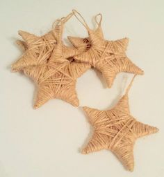 Rustic Star Christmas Ornaments