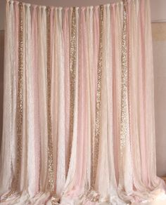 Blush pink white Lace fabric Gold Sparkle photobooth backdrop Wedding ceremony stage,birthday,baby shower backdrop party curtain nursery Baby room – Home Decoration Party Kulissen, Shower Party, Baby Shower Parties, Baby Shower Themes, Ideas Party, Shower Ideas, 30th Party, Baby Shower Backdrop, Diy Backdrop