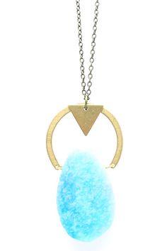 Love the pop of geometry and gemstone. www.craftsandlove.com