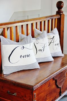 Come Sail With Me... Pillow Talk! Shop for pillows at Completely Coastal: http://www.completely-coastal.com/search/label/Pillows