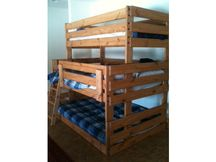 Photo of Bunk Bed B66 with Honey Stain (no lacquer)