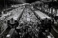 Churchgate Station, Bombay, from the series Migrations, by Sebastião Salgado. For his Migrations series, Sebastião Salgado poetically documented population growth and. Mumbai, Street Photography, Art Photography, Social Photography, Popular Photography, Fotojournalismus, Fotografia Social, Documentary Photographers, Blog Images