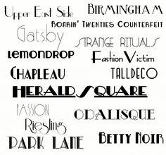 The Great Gatsby is Coming – Here are 15 FREE Gatsby-Inspired Fonts! | Sweet Benanna & Sam