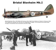 Bristol Blenheim Mk.I Ww2 Aircraft, Fighter Aircraft, Military Aircraft, Finnish Air Force, Bristol Blenheim, Plane Drawing, War Thunder, Ww2 Planes, Vintage Airplanes