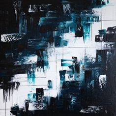 Palette Knife Painting - For Sale Aqua, Black and White Acrylic Knife Art, Palette Knife Painting, White Acrylics, Paintings For Sale, Aqua, Black And White, Abstract, Artist, Etsy