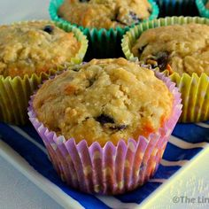 Cake Mix Breakfast Muffins. Perfectly sweet and fruity with a delicious hint of coconut and golden syrup - so hard to stop at one! thelinkssite.com #muffins #breakfastmuffins #muffinrecipe #breakfastrecipe