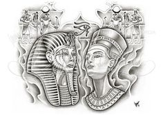 Egyptian back-piece by dfmurcia.deviantart.com on @deviantART
