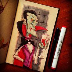 INKtober day 12... Dracula...Count... Dracula! #inktober #dracula #monster #creature #...   Use Instagram online! Websta is the Best Instagram Web Viewer!