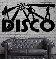 Disco Wall Stickers Music Night Club Party Nightclub Dance Vinyl Decal (ig1321)