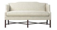 Thibaut settee - love the legs & lines - I wonder if it comes in a grey