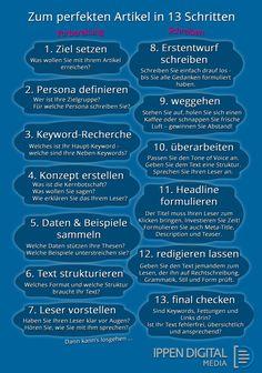 Checkliste: In 13 Schritten zum perfekten Online-Text. Einen guten Text zu schreiben, ist manchmal ziemlich schwer.