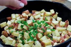 Simple Herbed Skillet Potatoes - Cooking | Add a Pinch