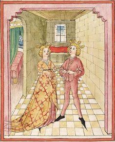 Pontus und Sidonia — Stuttgart (?) - Werkstatt Ludwig Henfflin,  um 1475  Cod. Pal. germ. 142  Folio 59v