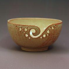 Yarn Bowl / Knitting Bowl / Crochet Bowl / Shino Yarn Bowl / 6 1/2 inch Yarn Bowl / Ready to Ship at: andersenpottery.etsy.com