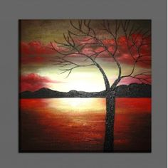 Red Clouds Oil Painting for sale on overArts.com
