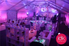 Great event lighting & custom Lounge & decor
