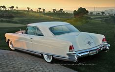 1956 Continental MKII, beige in color. Built by the Continental Car division of FMC, which was a separate division from Lincoln Motorcar division during model years 1956 and Continental Cars, Lincoln Continental, American Classic Cars, Ford Classic Cars, Car Ford, Ford Trucks, Lincoln Motor, Division, Classic Car Restoration