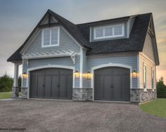 Gray Exterior House Colors Design, Pictures, Remodel, Decor and Ideas - page 6 Craftsman Construction The shingles above are Behr Semi Transparent stain color Light Lead The siding is Certainteed Pewter color The stone is Cultured stone Gray Cobblefield