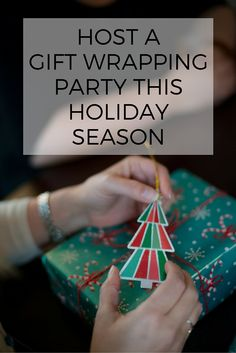Host a gift wrapping party! This is a fun way to get all your gifts wrapped while sharing paper (especially so you can have paper that's just from Santa).