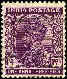 British India postage stamp, the kind of thing my characters in Shadowed in Silk…