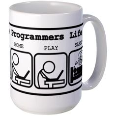 CafePress - Unique The programmers life Mug - Coffee Mug, Large 15 oz. White Coffee Cup *** Check out this great image  : Coffee Mugs