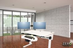 Invest in your health, relieve back pain and be more active - switch to a height adjustable computer desk and instantly increase productivity. Best Standing Desk, Relieve Back Pain, Computer Desks, Increase Productivity, Modern Desk, Table Desk, Health, Furniture, Design