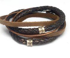 Mens Wrap Bracelet Dads Christmas Gift Mens Leather