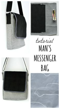 Create a beetle themed mans messenger bag. DIY man's messenger bag utilizing car seat belt. Full tutorial for the car themed bag on the blog.