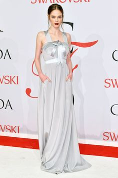 Coco Rocha looked stunning in a thick-strapped Banana Republic gown.
