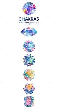 Chakras by Marina Demidova on @creativemarket