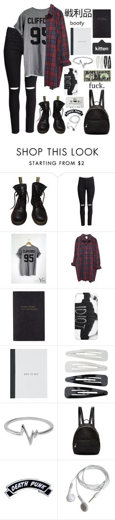 """That's one hundred sleepless nights"" by xxkatiehemmingsxx ❤ liked on Polyvore featuring Dr. Martens, H&M, Monki, Smythson, Forever 21, Jewel Exclusive, STELLA McCARTNEY and Kreepsville 666"