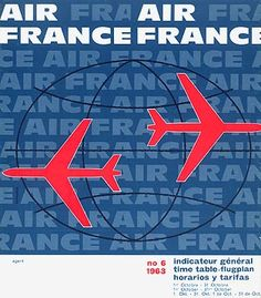 Air France Timetable, 1963