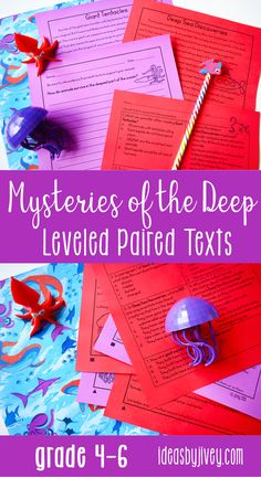 Paired texts and passages are great for providing students with more complex texts to compare and build knowledge. These differentiated passages are perfect for 4th grade and middle school! Click the pin to see some of the texts about mysteries of the deep included!