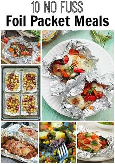 Easy no fuss foil packet meals! No cleaning involved. Great in the oven & on the grill.