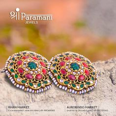 This beautiful set of rubies and emeralds earrings set in gold with real pearls by Shri Paramani Jewels is sufficient enough to make you… India Jewelry, Fine Jewelry, Gold Jewelry, Real Pearls, Emerald Earrings, Indian Earrings, Jewelry Patterns, Earring Set, Wedding Jewelry