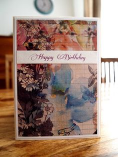 Happy Birthday #birthdaycard #paperchase #papercraft #cardmaking #colorful #veronicard #flowers