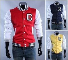 "Men's Letter ""G"" Letterman Jacket"