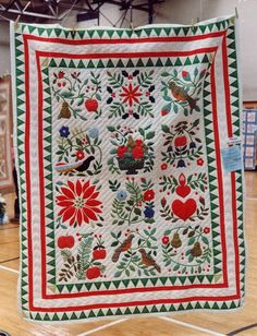 Historic Waterloo Village and Quilts - A Christmas Card by Barbara at Quilts, Gravestones, And Elusive Ancestors blog.