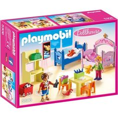 Outfitted with a bookcase, play table and toys, this Playmobil Children's Room has everything kids need to create their own special space Playmobil Dollhouse, Playmobil Sets, Dollhouse Miniatures, Dollhouse Furniture, Miniature Furniture, Maison Transportable, Play Table, Doll Crafts, Shopping