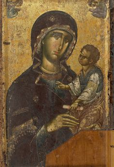 Icon of the Theotokos Religious Images, Religious Icons, Religious Art, Byzantine Icons, Byzantine Art, Madonna, Medieval Paintings, Best Icons, Holy Mary