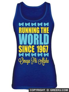 Omega Phi Alpha Running The World Poly-Cotton Unisex Tank Top