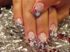 """<< * """"STAR SPANGLED ACRYLIC NAILS"""" [[nail art]]"""